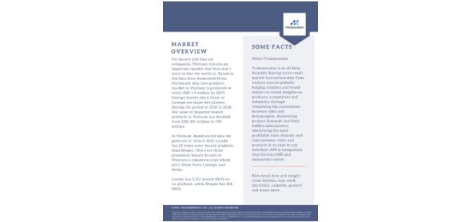Retail Insight Report Jan/ Feb 2021: Beauty Products Insight in Vietnam Market