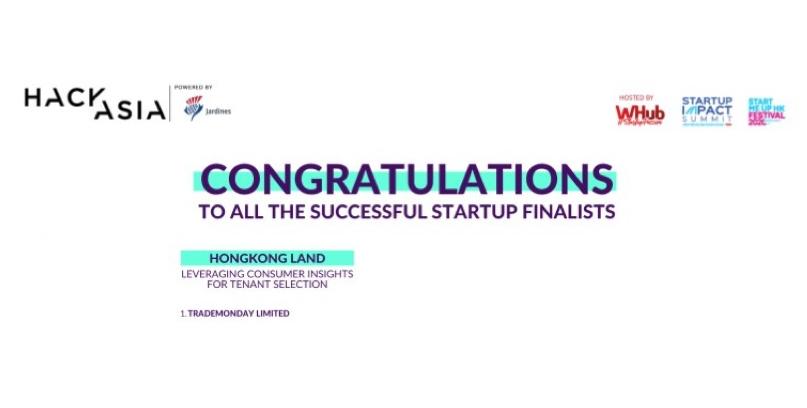 HackAsia, HongKong Land Hackathon,  Finalist